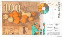 100 Francs CÉZANNE FRANCE  1998 F.74.02 SUP