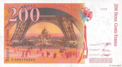 200 Francs EIFFEL FRANCE  1995 F.75.01 SUP