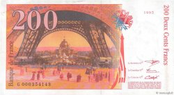 200 Francs EIFFEL FRANCE  1995 F.75.01 pr.SUP