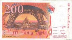 200 Francs EIFFEL FRANCE  1995 F.75.01 TTB