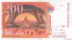 200 Francs EIFFEL  FRANCE  1995 F.75.01 VF+