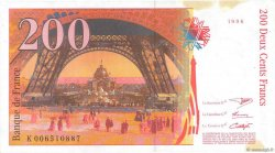 200 Francs EIFFEL FRANCE  1996 F.75.02 pr.SUP