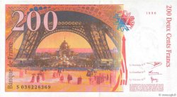200 Francs EIFFEL FRANCE  1996 F.75.03a SUP