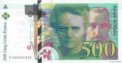 500 Francs PIERRE ET MARIE CURIE FRANCE  1994 F.76.01 pr.NEUF