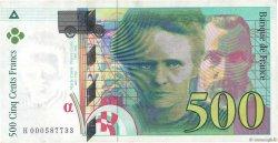 500 Francs PIERRE ET MARIE CURIE FRANCE  1994 F.76.01 TTB
