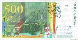 500 Francs PIERRE ET MARIE CURIE FRANCE  1994 F.76.01 TTB+