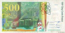 500 Francs PIERRE ET MARIE CURIE FRANCE  1994 F.76.01 pr.TTB