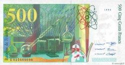 500 Francs PIERRE ET MARIE CURIE FRANCE  1994 F.76.01 SPL+