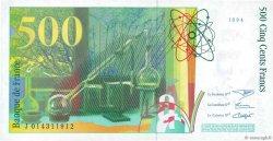 500 Francs PIERRE ET MARIE CURIE FRANCE  1994 F.76.01 SPL