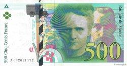 500 Francs PIERRE ET MARIE CURIE FRANCE  1995 F.76.02 SUP+