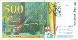 500 Francs PIERRE ET MARIE CURIE FRANCE  1995 F.76.02 TTB+