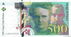 500 Francs PIERRE ET MARIE CURIE FRANCE  1995 F.76.02 SPL