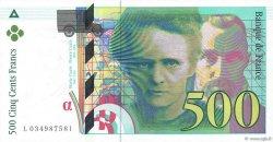 500 Francs PIERRE ET MARIE CURIE FRANCE  1995 F.76.02 NEUF