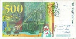 500 Francs PIERRE ET MARIE CURIE FRANCE  1995 F.76.02 pr.SUP