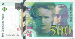 500 Francs PIERRE ET MARIE CURIE FRANCE  1996 F.76.03 SUP+