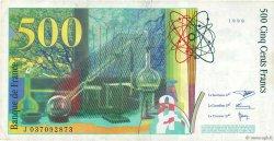 500 Francs PIERRE ET MARIE CURIE FRANCE  1998 F.76.04 TB+