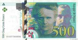 500 Francs PIERRE ET MARIE CURIE FRANCE  1998 F.76.04 pr.SPL