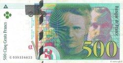 500 Francs PIERRE ET MARIE CURIE FRANCE  1998 F.76.04 TTB