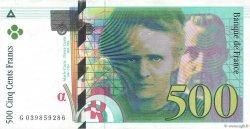 500 Francs PIERRE ET MARIE CURIE FRANCE  1998 F.76.04 SPL