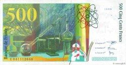 500 Francs PIERRE ET MARIE CURIE FRANCE  1998 F.76.04 TTB+