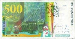 500 Francs PIERRE ET MARIE CURIE FRANCE  2000 F.76.05 TTB