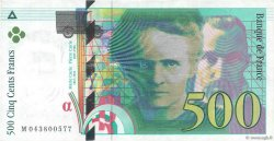 500 Francs PIERRE ET MARIE CURIE FRANCE  2000 F.76.05 TTB+
