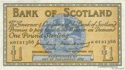 1 Pound ÉCOSSE  1956 P.100b TTB+