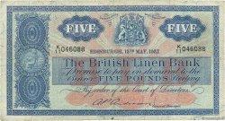 5 Pounds ÉCOSSE  1957 P.161b B+