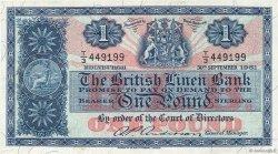 1 Pound ÉCOSSE  1961 P.162 SUP