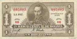 1 Boliviano BOLIVIE  1928 P.119a TTB+