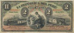 2 Soles PÉROU  1879 P.002 pr.TTB