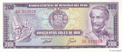 200 Soles de Oro PÉROU  1969 P.103a NEUF