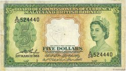 5 Dollars MALAISIE et BORNEO  1953 P.02a TB