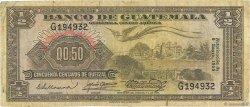 1/2 Quetzal GUATEMALA  1955 P.029 B