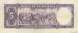 5 Quetzales GUATEMALA  1960 P.045b TTB