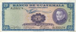 20 Quetzales GUATEMALA  1960 P.048b TTB