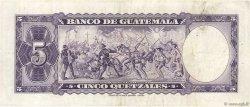 5 Quetzales GUATEMALA  1967 P.053d TTB
