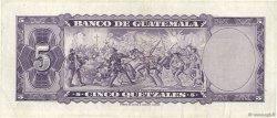 5 Quetzales GUATEMALA  1969 P.053f TTB