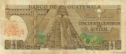 1/2 Quetzal GUATEMALA  1979 P.058c TB