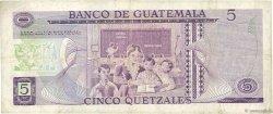 5 Quetzales GUATEMALA  1971 P.060a pr.TTB