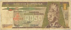 1/2 Quetzal GUATEMALA  1988 P.065 TB