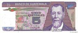 5 Quetzales GUATEMALA  1987 P.067 NEUF