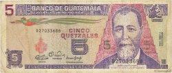 5 Quetzales GUATEMALA  1990 P.074a B