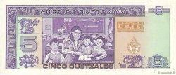 5 Quetzales GUATEMALA  1990 P.074a SPL