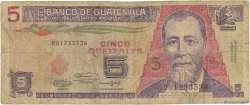 5 Quetzales GUATEMALA  1991 P.074b B
