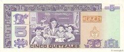 5 Quetzales GUATEMALA  1991 P.074b NEUF