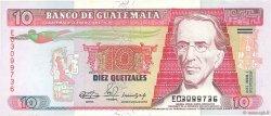 10 Quetzales GUATEMALA  1990 P.075b TTB