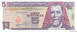 5 Quetzales GUATEMALA  1992 P.081 NEUF
