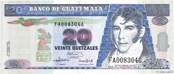 20 Quetzales GUATEMALA  1992 P.083 NEUF