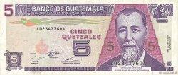 5 Quetzales GUATEMALA  1995 P.088b TTB